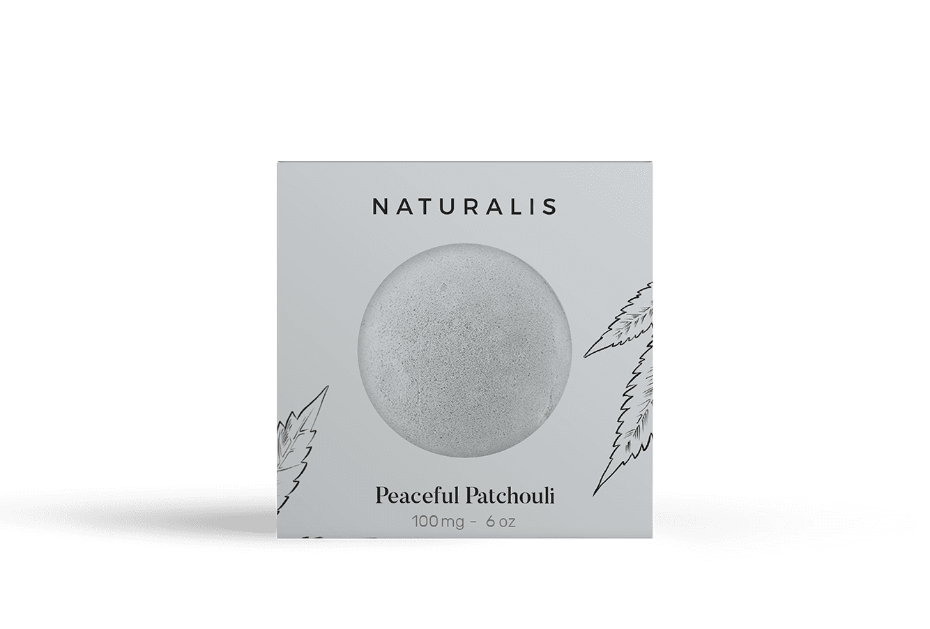 CBD Bath bombs: Peaceful Patchouli